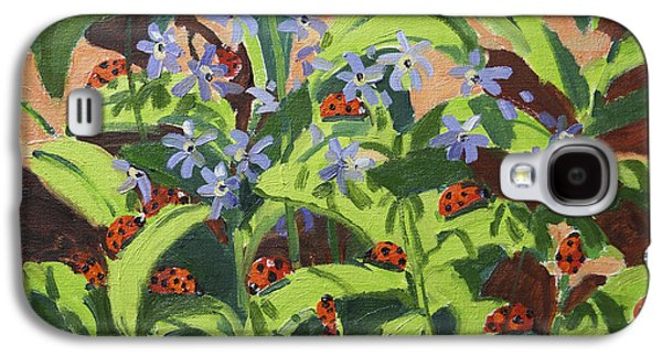 Ladybug Galaxy S4 Cases - Ladybirds Galaxy S4 Case by Andrew Macara