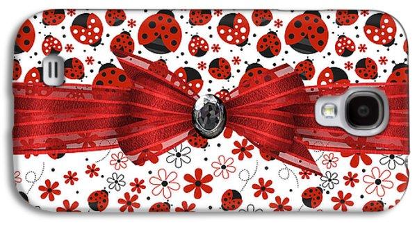 Ladybug Magic Galaxy S4 Case by Debra  Miller