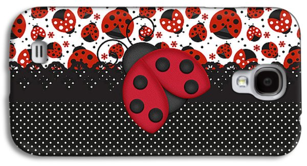 Insects Digital Galaxy S4 Cases - Ladybug Mood  Galaxy S4 Case by Debra  Miller