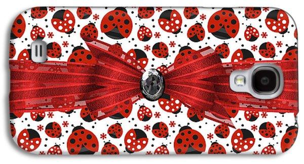 Ladybug Obsession  Galaxy S4 Case by Debra  Miller
