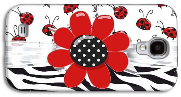 Ladybug Wild Thing Galaxy S4 Case by Debra  Miller