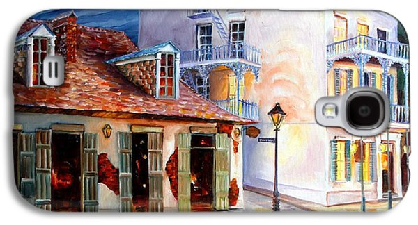 Night Lamp Paintings Galaxy S4 Cases - Lafittes Guest House on Bourbon Galaxy S4 Case by Diane Millsap