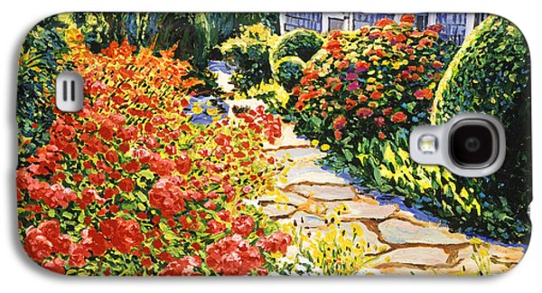 Pathway Paintings Galaxy S4 Cases - Laguna Beach House Garden Galaxy S4 Case by David Lloyd Glover