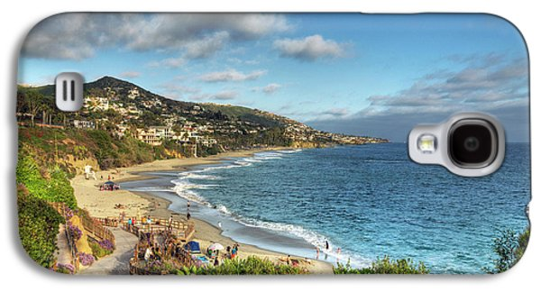 Beach Landscape Digital Galaxy S4 Cases - Laguna Beach Shoreline Galaxy S4 Case by Eddie Yerkish