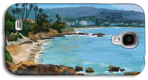 Park Scene Paintings Galaxy S4 Cases - Laguna Beach Winter Galaxy S4 Case by Alice Leggett