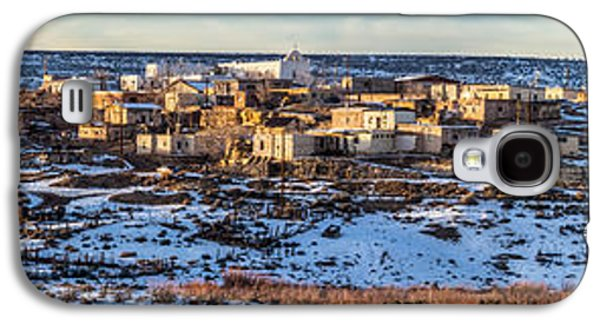 Panoramic Galaxy S4 Cases - Winter Afternoon Laguna Pueblo Galaxy S4 Case by Duane Miller