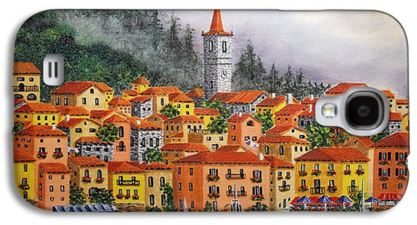 Lake Como Paintings Galaxy S4 Cases - Lake Como Italy Galaxy S4 Case by Val Miller