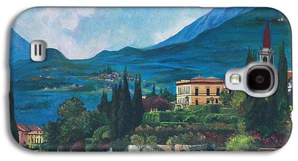 Lake Como Paintings Galaxy S4 Cases - Lake Como Galaxy S4 Case by Stella Marin