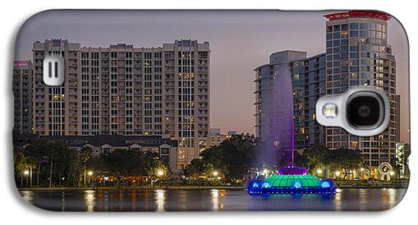 Lake Eola Memorial Water Fountain  Galaxy S4 Case by Susan Candelario