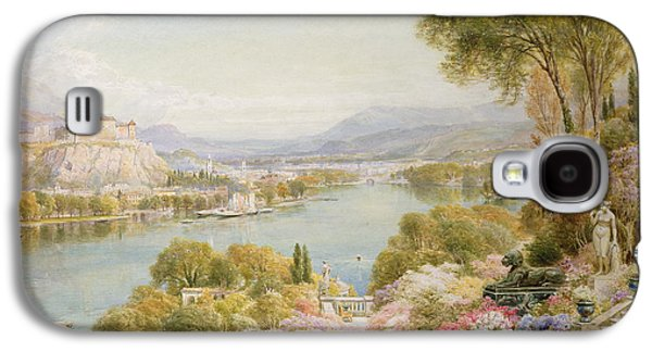 River View Paintings Galaxy S4 Cases - Lake Maggiore Galaxy S4 Case by Ebenezer Wake-Cook