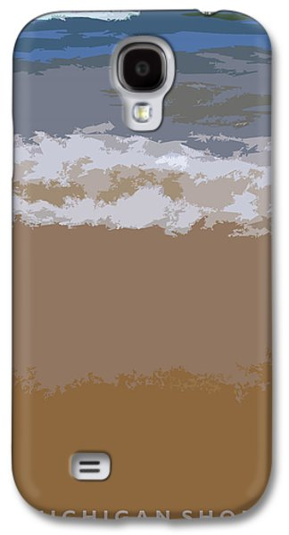 Seascape Digital Galaxy S4 Cases - Lake Michigan Shoreline Galaxy S4 Case by Michelle Calkins