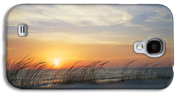 Best Sellers Photographs Galaxy S4 Cases - Lake Michigan Sunset with Dune Grass Galaxy S4 Case by Mary Lee Dereske