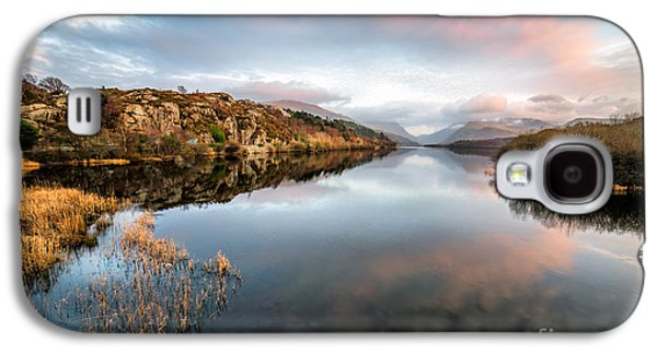 Sunsets Digital Art Galaxy S4 Cases - Lake Padarn Sunset Galaxy S4 Case by Adrian Evans