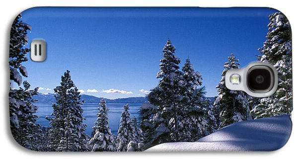 Snow Tree Prints Galaxy S4 Cases - Lake Tahoe in Winter Galaxy S4 Case by Kathy Yates