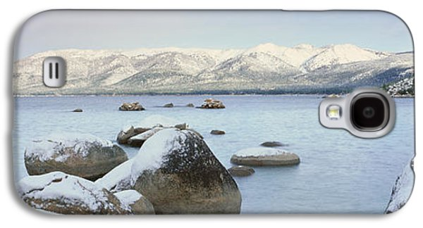 Wintertime Galaxy S4 Cases - Lake Tahoe In Wintertime, Nevada Galaxy S4 Case by Panoramic Images