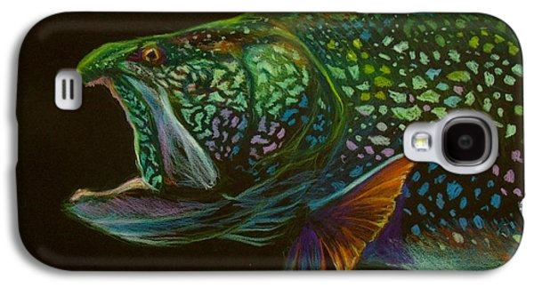Rainbow Trout Galaxy S4 Cases - Lake trout portrait Galaxy S4 Case by Yusniel Santos