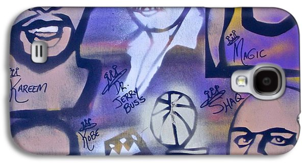 Bryant Paintings Galaxy S4 Cases - Lakers love JERRY BUSS 2 Galaxy S4 Case by Tony B Conscious