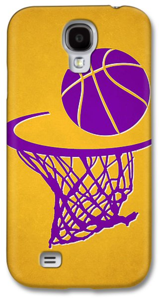 Dunk Galaxy S4 Cases - Lakers Team Hoop2 Galaxy S4 Case by Joe Hamilton