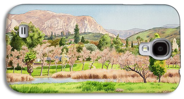 El Capitan Paintings Galaxy S4 Cases - Lakeside California Galaxy S4 Case by Mary Helmreich
