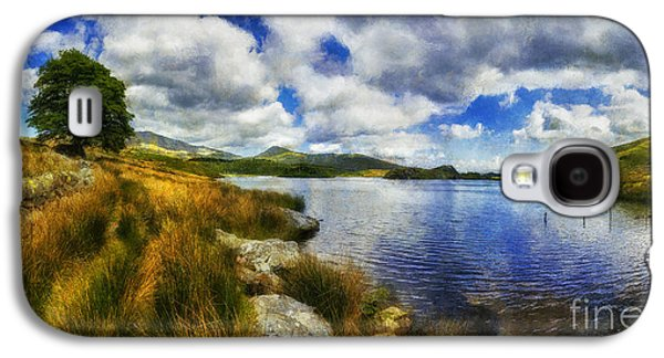 Park Scene Digital Galaxy S4 Cases - Lakeside Memories Galaxy S4 Case by Ian Mitchell