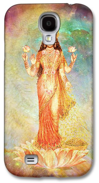 Goddess Durga Galaxy S4 Cases - Lakshmi floating in a Galaxy Galaxy S4 Case by Ananda Vdovic