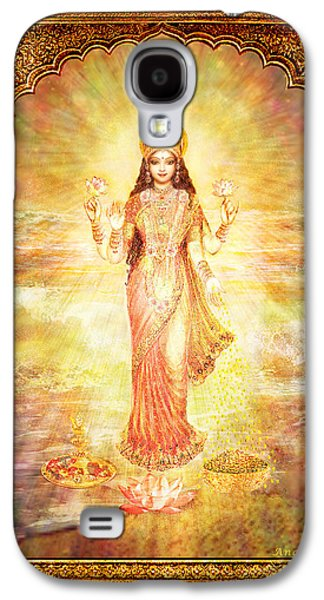 Hindu Goddess Galaxy S4 Cases - Lakshmi the Goddess of Fortune and Abundance Galaxy S4 Case by Ananda Vdovic