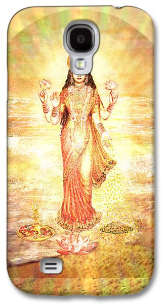 Goddess Durga Galaxy S4 Cases - Lakshmis Birth from the Milk Ocean Galaxy S4 Case by Ananda Vdovic