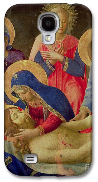 Renaissance Paintings Galaxy S4 Cases - Lamentation over the Dead Christ Galaxy S4 Case by Fra Angelico