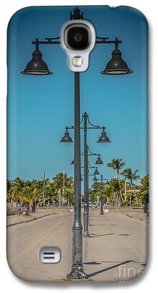 Candid Photographs Galaxy S4 Cases - Lamp Posts White Street Pier Key West - HDR Style Galaxy S4 Case by Ian Monk