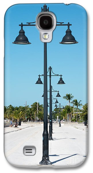 Candid Photographs Galaxy S4 Cases - Lamp Posts White Street Pier Key West Galaxy S4 Case by Ian Monk