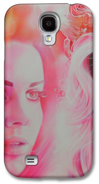 Celebrities Galaxy S4 Cases - Lana Del Rey Galaxy S4 Case by Christian Chapman Art