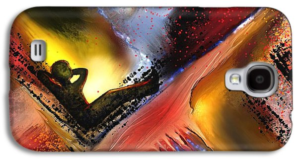 Abstract Digital Paintings Galaxy S4 Cases - Lancinant  Galaxy S4 Case by Francoise Dugourd-Caput