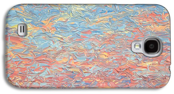 Sunset Abstract Galaxy S4 Cases - Land and Sky 3 Galaxy S4 Case by James W Johnson