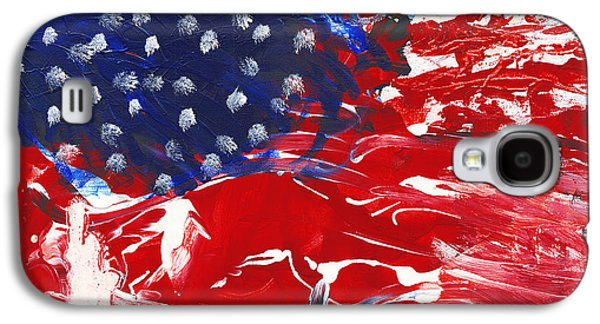 4th July Mixed Media Galaxy S4 Cases - Land of Liberty Galaxy S4 Case by Luz Elena Aponte