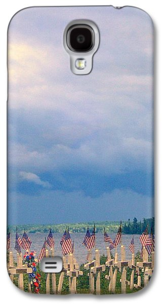 4th July Galaxy S4 Cases - Land of the Free Galaxy S4 Case by Linda Galok