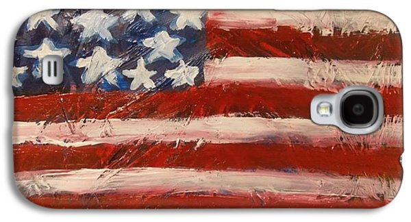 4th July Paintings Galaxy S4 Cases - Land Of The Free Galaxy S4 Case by Niceliz Howard