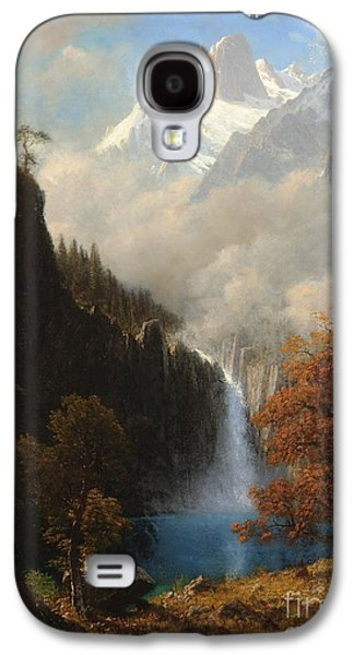 Steer Paintings Galaxy S4 Cases - Landers Peak Wyoming Galaxy S4 Case by Albert Bierstadt