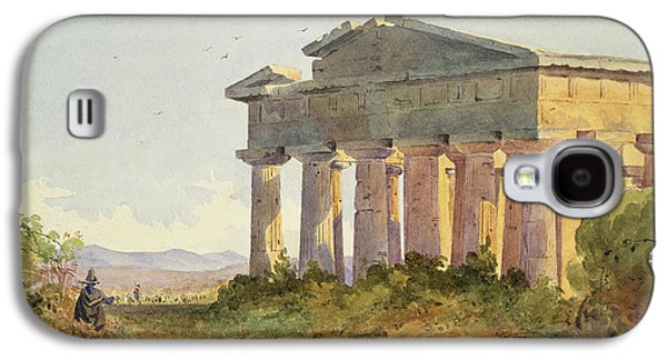 Ruin Galaxy S4 Cases - Landscape at Paestum Galaxy S4 Case by Arthur Glennie