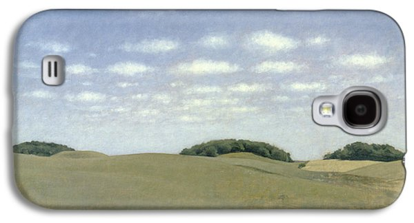 Countryside Paintings Galaxy S4 Cases - Landscape from Lejre Galaxy S4 Case by Vilhelm Hammershoi