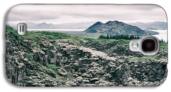 Subtle Colors Galaxy S4 Cases - Landscape in Iceland - lava field and lake Galaxy S4 Case by Matthias Hauser