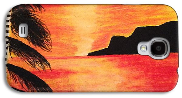 Etc. Pastels Galaxy S4 Cases - Landscape sunset Galaxy S4 Case by  Jessica Hope