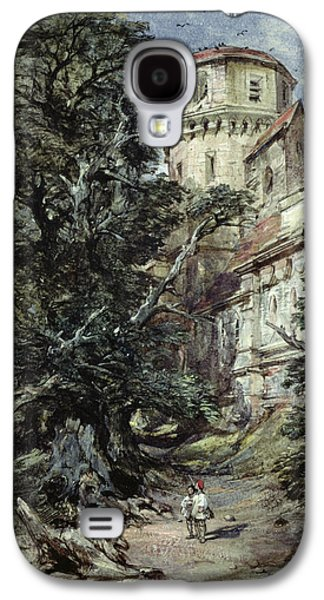 Flock Of Birds Paintings Galaxy S4 Cases - Landscape with Castle and Trees Galaxy S4 Case by George Cattermole