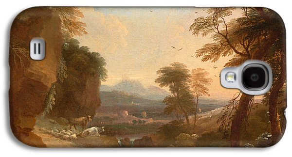 Landscape With Mountains Galaxy S4 Cases - Landscape with Distant Mountains Galaxy S4 Case by Adriaen van Diest