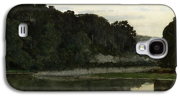 Heron Paintings Galaxy S4 Cases - Landscape with Heron Galaxy S4 Case by William Frederick Yeames