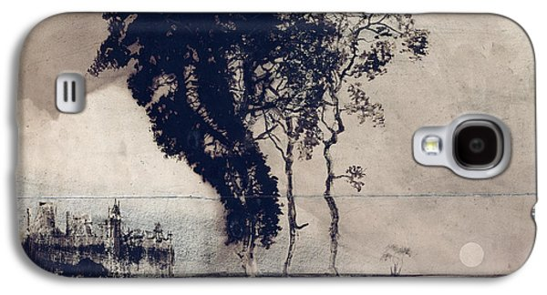 Ghostly Galaxy S4 Cases - Landscape with Three Trees Galaxy S4 Case by Victor Hugo
