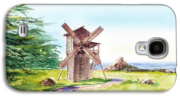 Landscapes Of California Fort Ross Windmill Galaxy S4 Case by Irina Sztukowski