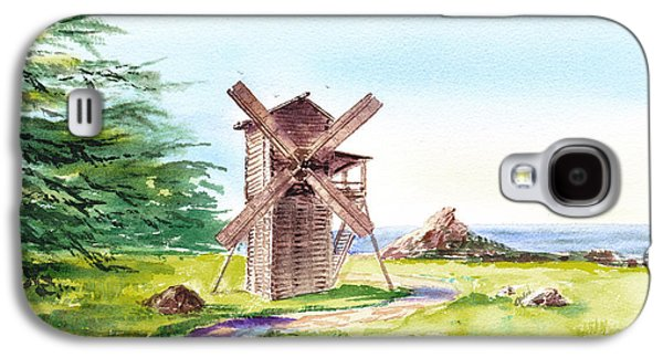 Ross Paintings Galaxy S4 Cases - Landscapes Of California Fort Ross Windmill Galaxy S4 Case by Irina Sztukowski