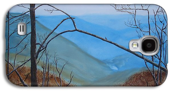 Smokey Mountains Paintings Galaxy S4 Cases - Lane Pinnacle Galaxy S4 Case by Stuart Engel