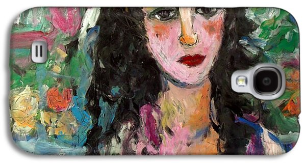 Contemplative Glass Art Galaxy S4 Cases - Lanelle Galaxy S4 Case by Mykul Anjelo