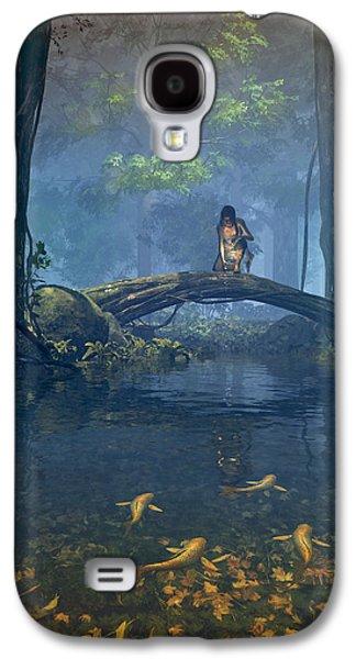 Medieval Galaxy S4 Cases - Lantern Bearer Galaxy S4 Case by Cynthia Decker